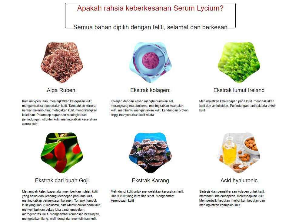 Lycium Serum ingre